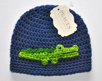 Baby Hats - Alligator / Crocodile Baby Beanie Hat (Baby Gifts Baby Beanie Newborn Hat Crochet Baby Hat Newborn Hats Baby Beanies)