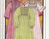 Autumn Leaves Smocked Nightgown & Robe Pattern by Judith Marquis