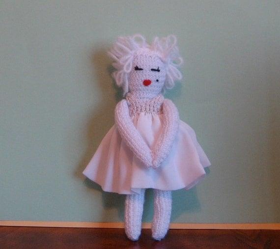 Knitted Marilyn Monroe Doll