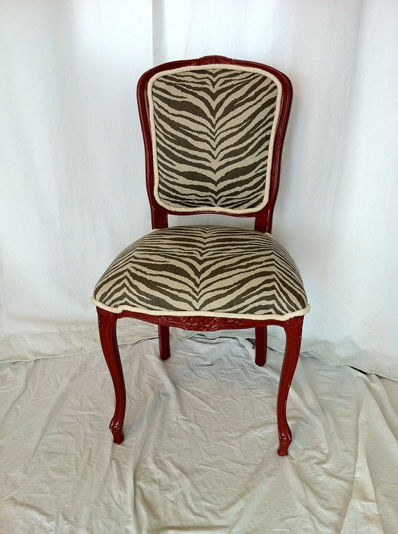 French Louis Industrial Accent Chair: Renee