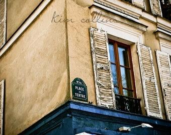 Place Du Tertre-Fine Art Photography,Paris,France,multiple sizes available,architecture, street sign,travel, building,parisian.Paris,France