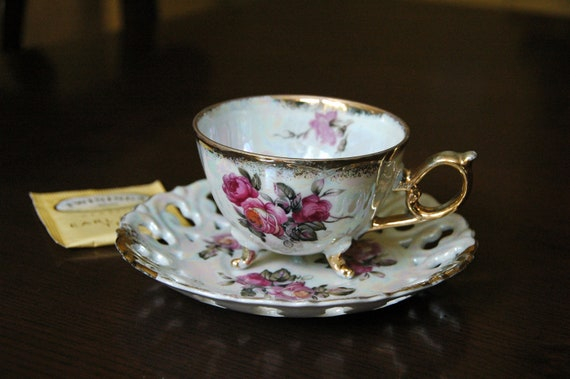 Vintage Hand Painted China Tea Cup & Saucer