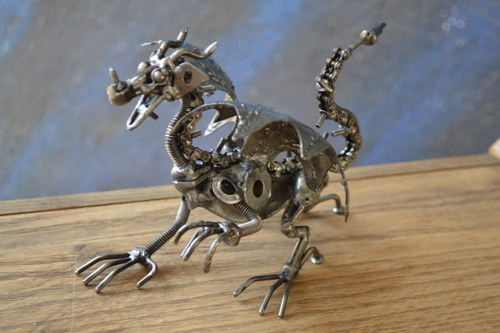 Dragon Made Out Of Car Parts