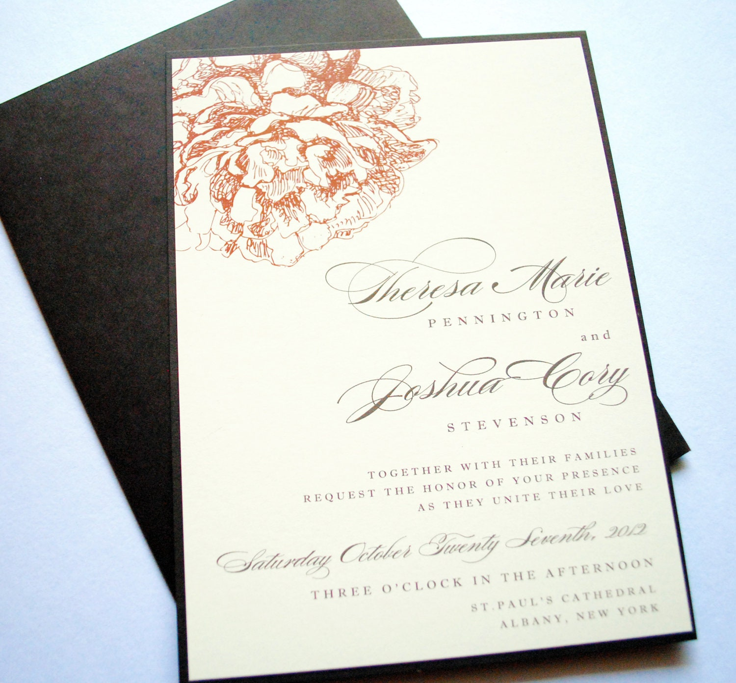 Peony Wedding Invitations Floral Peonies Peony by ...