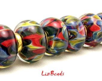 SRA Handcrafted Borosilicate Artisan Lampwork Bead Set - LOLA