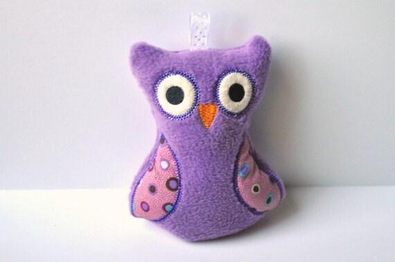 Owl Rattle - Baby Rattle - Soft Toy - Owl Baby - Stuffed Animal Owl
