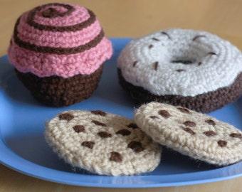 Custom Made to Order crochet play food, deserts