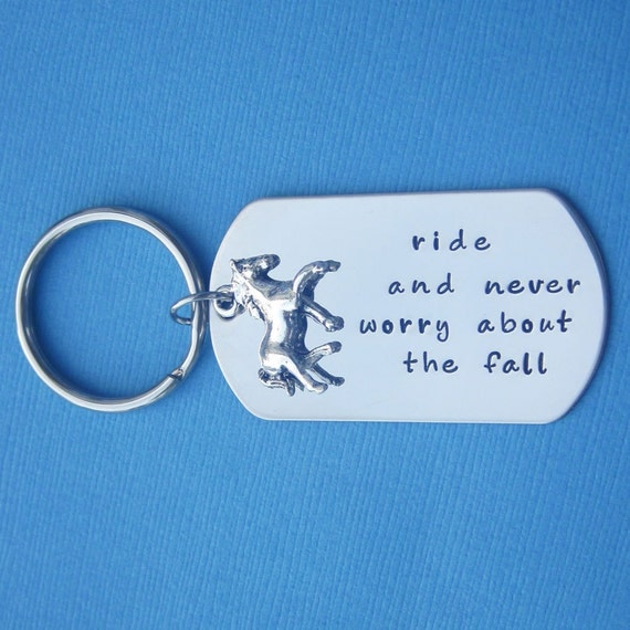 Personalized Horse Lover Key Chain Custom Horse Quote Horse Charm