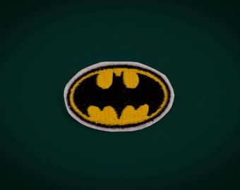 Batman Logo Patch - Embroidered Iron-on Super Hero Emblem
