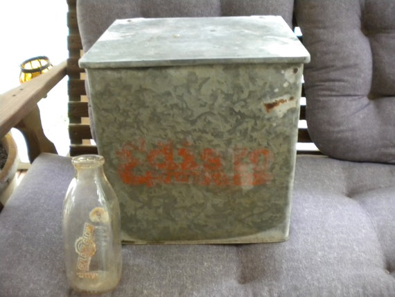 Vintage Galvanized Milk Cooler From Edisto Farms Dairy
