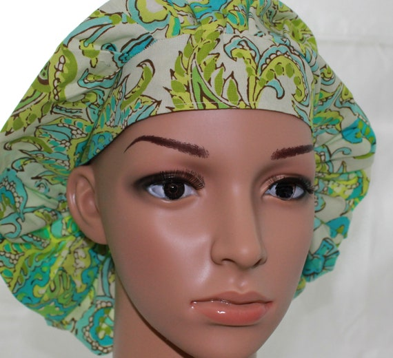 Women's Scrub Hat/ Bouffant Style/ Amy Butler fabric