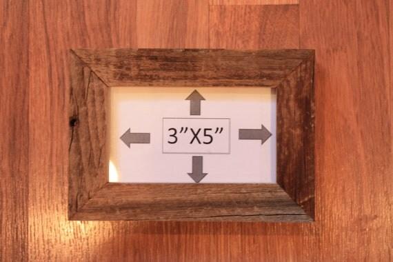 """Handmade Barnwood Picture Frame, 3"""" X 5"""""""