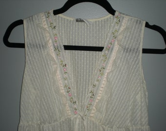 Vintage Long Sheer Nightgown