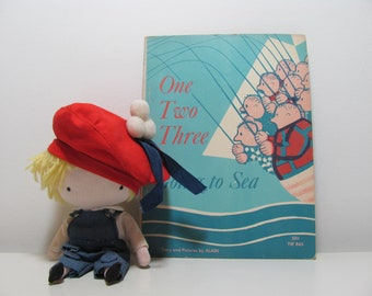 One Two Three Going To Sea by Alain 1968 Vintage Adding and Subtracting Book for Children