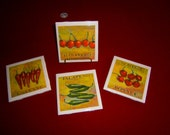 Spicy Peppers Coaster set