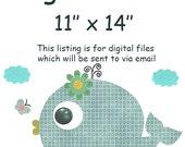 "ALL my prints, DIGITAL file , Art for Children , Kids Wall Art, Baby Girl Room Decor, 11"" x 14"", DIGITAL image"