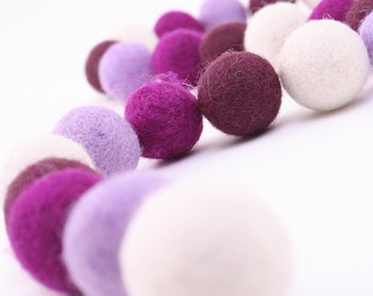 "ORG-OR Felt Balls -  2.5 cm - 40 count - ""Orchid"" Color Set"