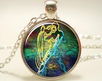 Aquarius Necklace, Zodiac Sign Pendant, Constellation Jewelry (1270S1IN)