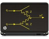 Science art Higgs boson formation in a Feynman diagram vinyl laptop decal tablet decal (ID: 181015)