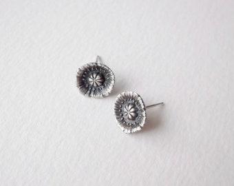 Poppy Flower Stud Earring