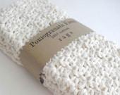 Crochet Wash Cloths - Dish Cloths - 100% Cotton - Set of Three