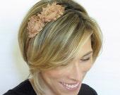 Adult Headbands, Womens Headbands, Shabby Chic Headband in Latte, Toddler Headband, Girls Headbands Teen Headband, Bridesmaid Headband, 702