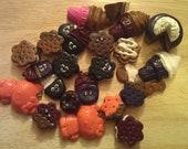 SALE - 3 Dollar Polymer Clay pieces - cookies, cake, ice cream, charms bundle bulk