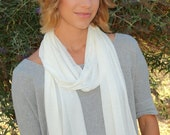 Hemp Jersey Scarf - light weight and Oneness Blessed- gift under 20