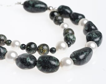 Double Strand African Turquoise Necklace (DNY-3201)