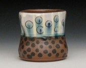 dotted pattern two tone glass