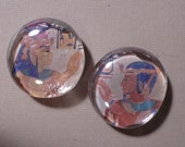 Egyptian Art large Glass Magnets