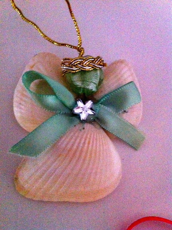 Diy Christmas Ornaments Etsy : Items similar to christmas shell angel ornaments diy kids