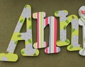 Baby Name Art - Nursery Decor - Hanging Wood Wooden Letters - Personalized Name - Unique Gift