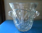 Ice Bucket / Bowl Golf Club Motif / Crystal / Cut Glass