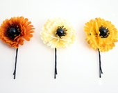 Autumn Flower Bobby Pins