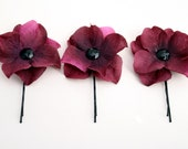 Purple Hydrangea Bobby Pins