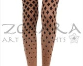 Optical Rhombuses Body Footless Tights (40C95-BOB)
