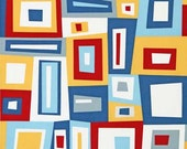 SALE Pacific, Cynthia Frenette, Multicolored, Kona Modern Quilts, red, yellow, blue, white, nautical, Modern, Robert Kaufman, One Yard