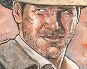 Indiana Jones Original Watercolor...