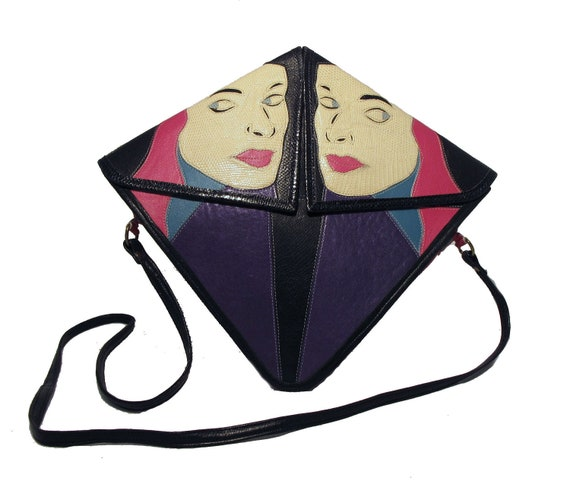 1980s Mille Fiore Two-Faced Leather Shoulder- COLLECTORS PIECE