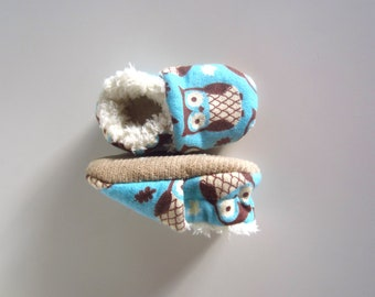Ready for Winter Soft and Cute Owl Baby Shoes