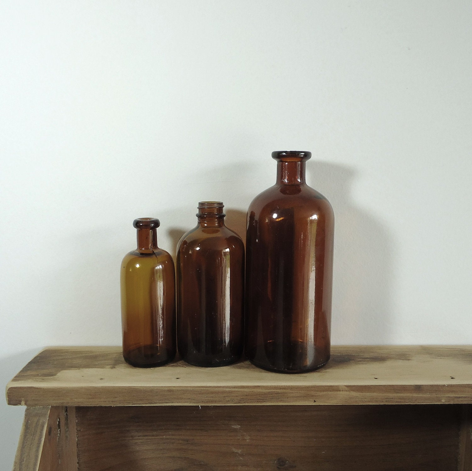 Old Apothecary Bottles Brown Glass Bottles Vintage Collection
