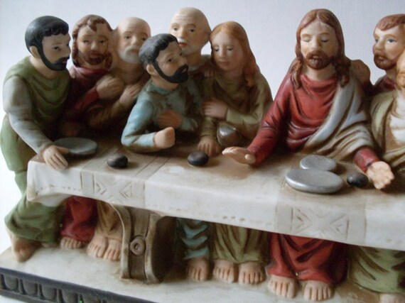 Beautiful Last Supper Vintage Fiqurine Beacon Hill Collectible