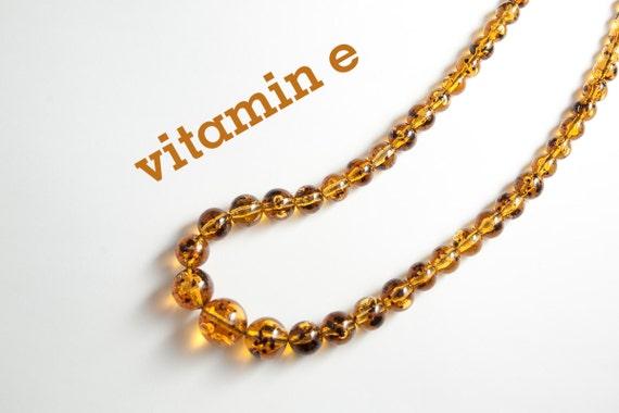 vintage amber yellow orange large bead necklace