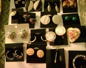 Lot of Vintage Avon Earrings ,Gerry's  Brooch Assorted Lot of Jewelry Earrings /Brooches Necklaces