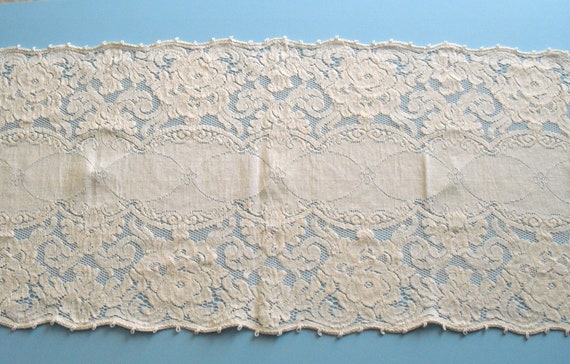 """Beautiful antique table runner 56"""" long x 14"""" wide"""