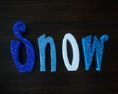 SNOW Wood Letters