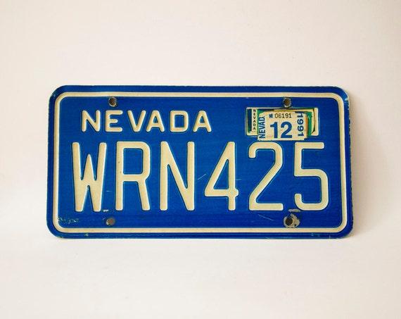 Original Nevada License Plate, 1980-1991