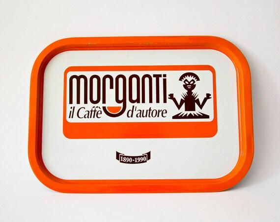 Vintage Italian TRAY Retro tin Caffé Morganti
