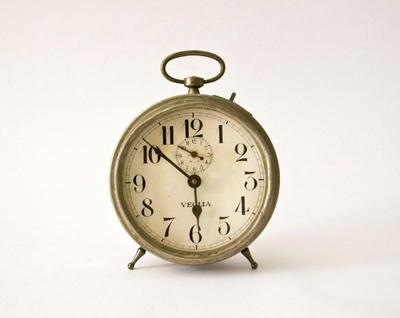 Original Vintage Italian Veglia Alarm clock